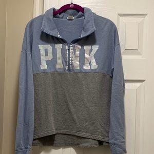 PINK sweatshirt with half zip